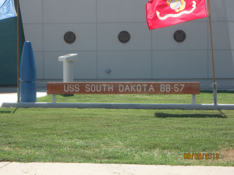 USS South Dakota - Sign