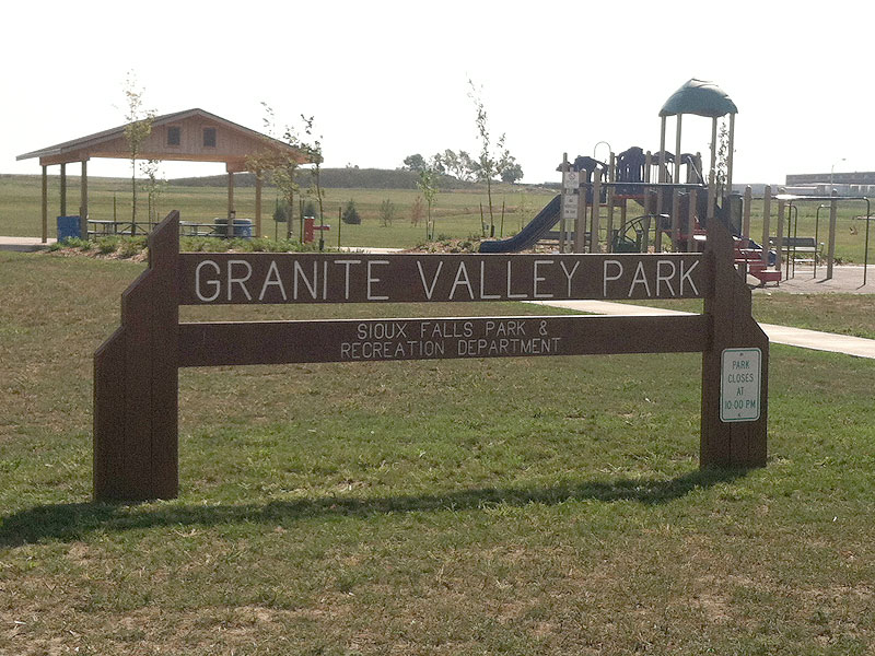Granite Valley Park Sign